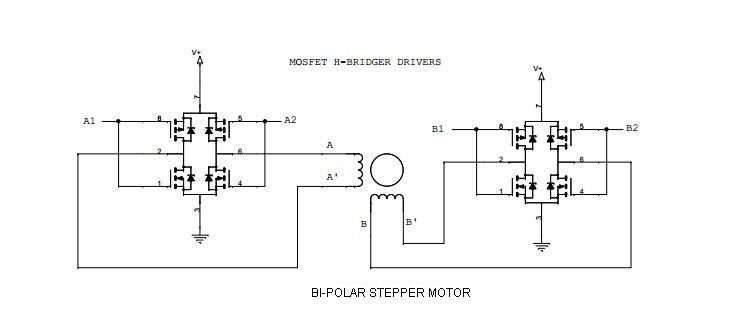 Stepper motor driver for Bipolar stepper motor driver circuit